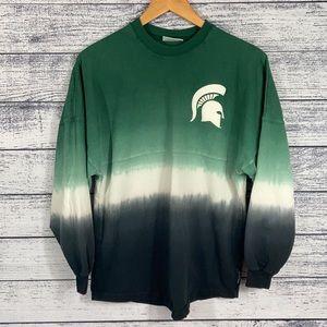 Michigan State NCAA Spartans Tie Dye Sweater